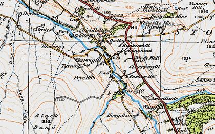 Old map of Garrigill in 1925