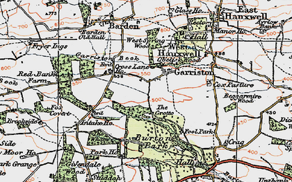 Old map of Wham, The in 1925