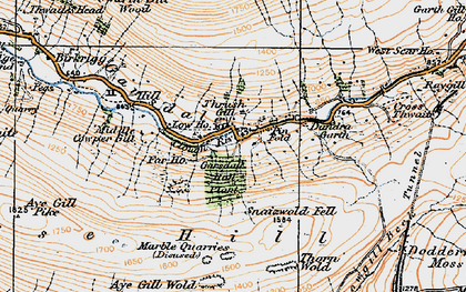 Old map of West Scar Ho in 1925