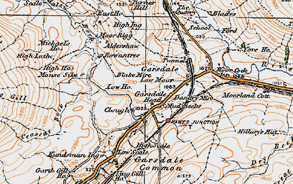 Old map of Yore Ho in 1925