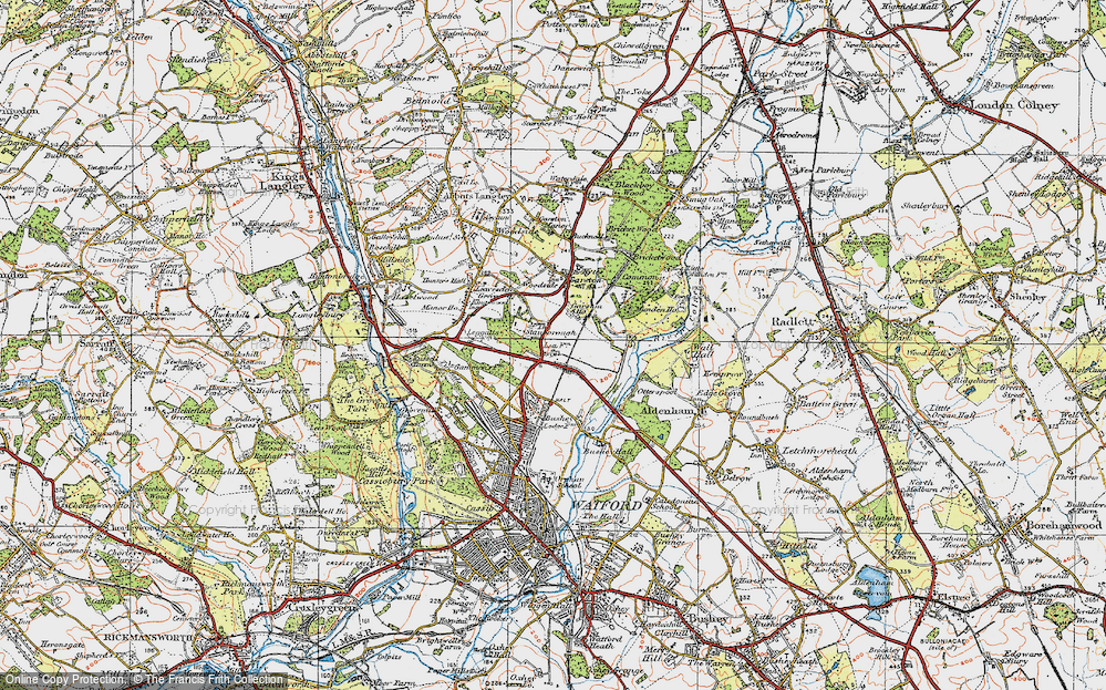 Old Map of Garston, 1920 in 1920