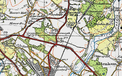 Old map of Garston in 1920