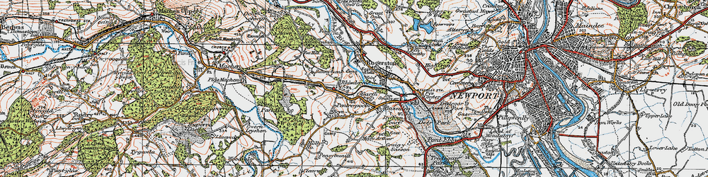 Old map of Garth in 1919