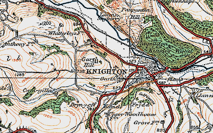 Old map of Garth in 1920