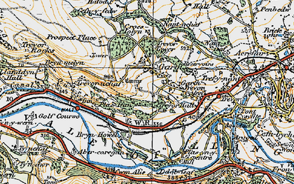 Old map of Garth in 1921