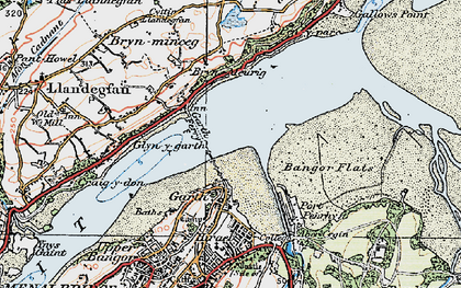 Old map of Bangor Pier in 1922
