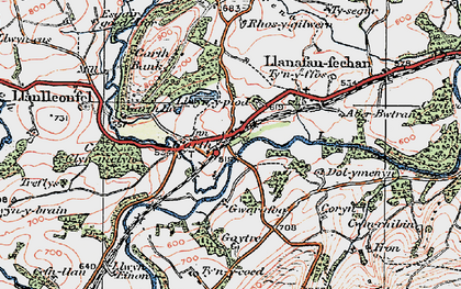 Old map of Banc y Cwm in 1923