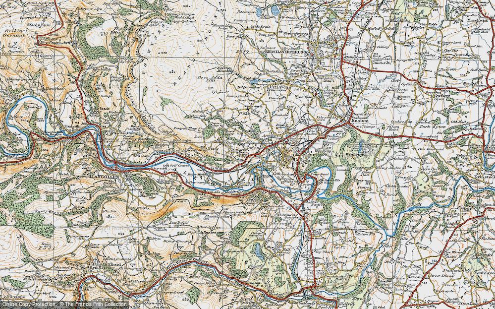 Old Map of Garth Trevor, 1921 in 1921