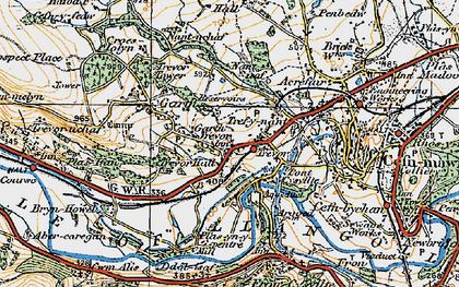 Old map of Garth Trevor in 1921