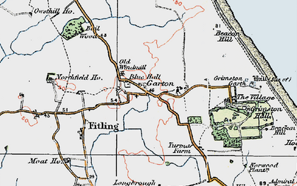 Old map of Bail Wood in 1924