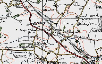 Old map of Garvestone in 1921
