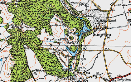 Old map of Aaron's Hill in 1919