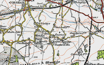 Old map of Gastard in 1919