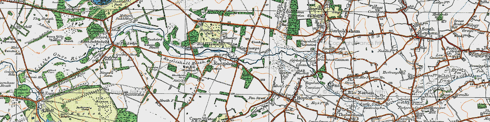 Old map of Angles Way in 1920