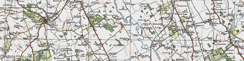 Old map of Allerthorpe Hall in 1925
