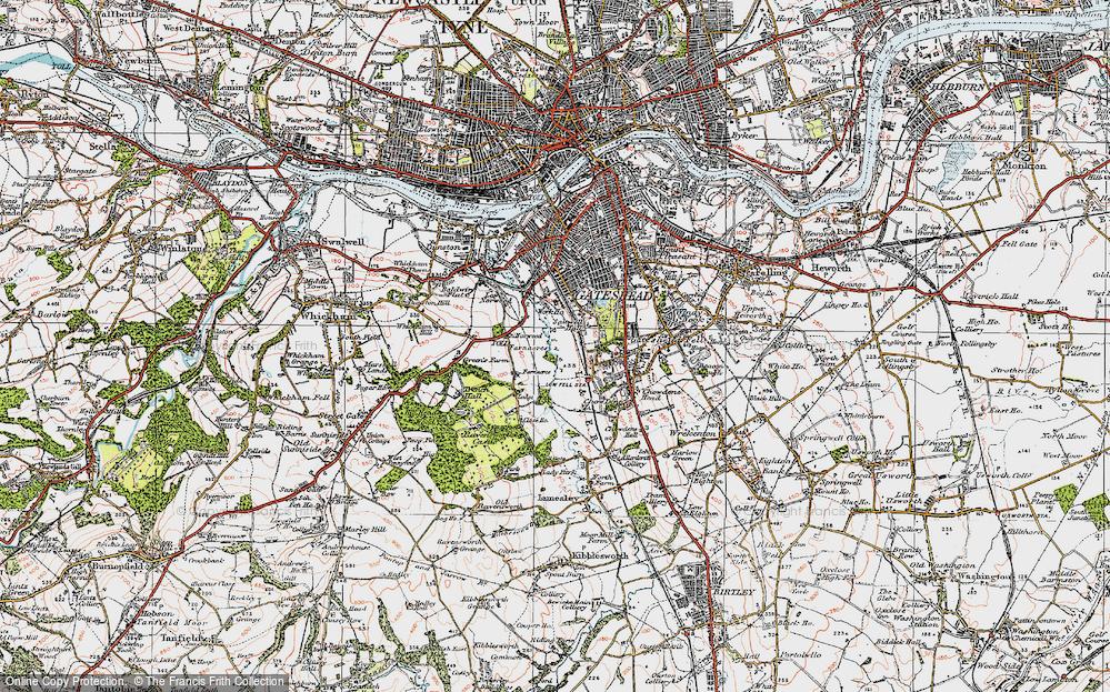 Old Maps of Gateshead Francis Frith
