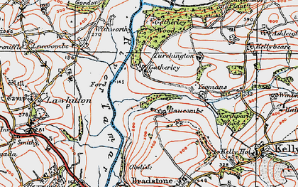 Old map of Yeomans in 1919