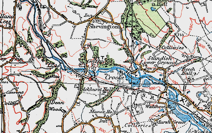 Old map of Ackhurst Hall in 1924