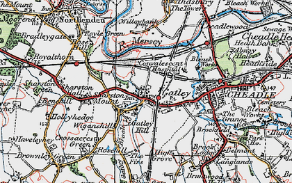 Old map of Gatley in 1923