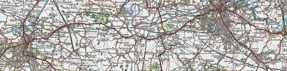 Old map of Bruntwood Hall in 1923