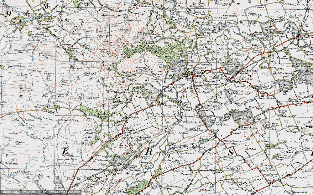 Old Map of Historic Map covering Langton Edge in 1926