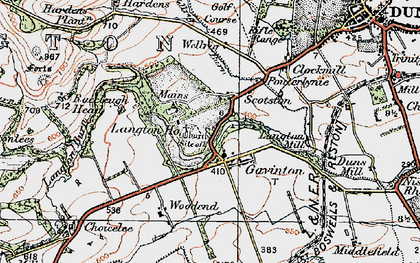 Old map of Langton Edge in 1926