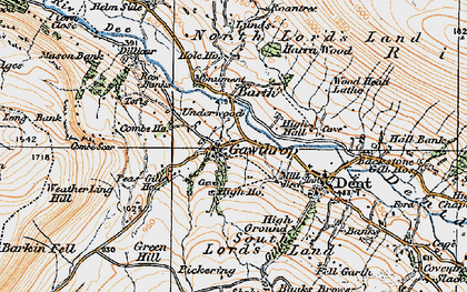 Old map of Wood Head Lathe in 1925