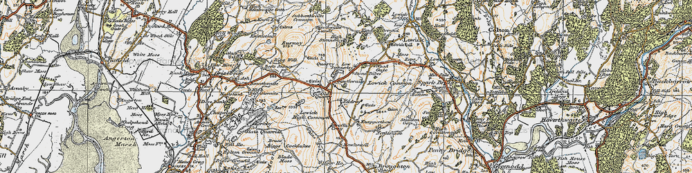 Old map of Whins Beck in 1925