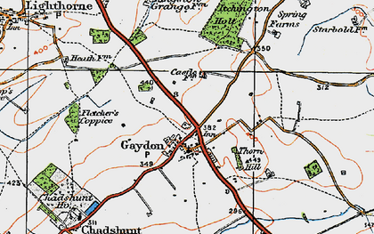 Old map of Gaydon in 1919