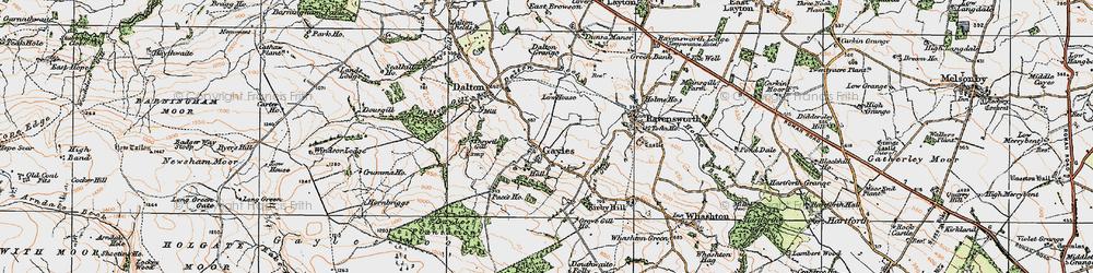Old map of Gayles in 1925