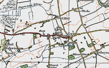 Old map of Lanky Hill in 1921