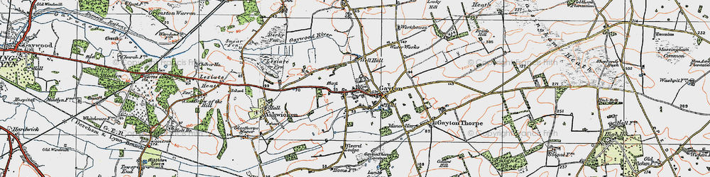 Old map of Wizard Lodge in 1921
