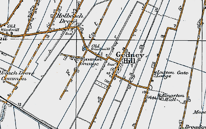 Old map of Gedney Hill in 1922