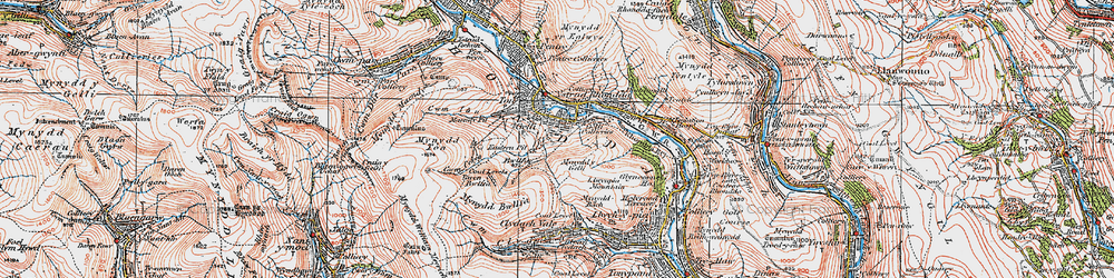Old map of Gelli in 1923