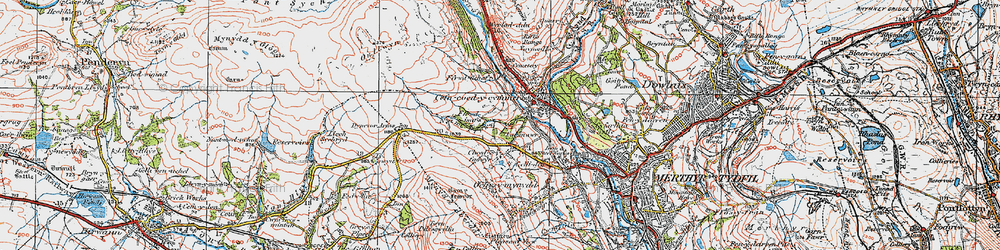 Old map of Ffrwd-isaf in 1923