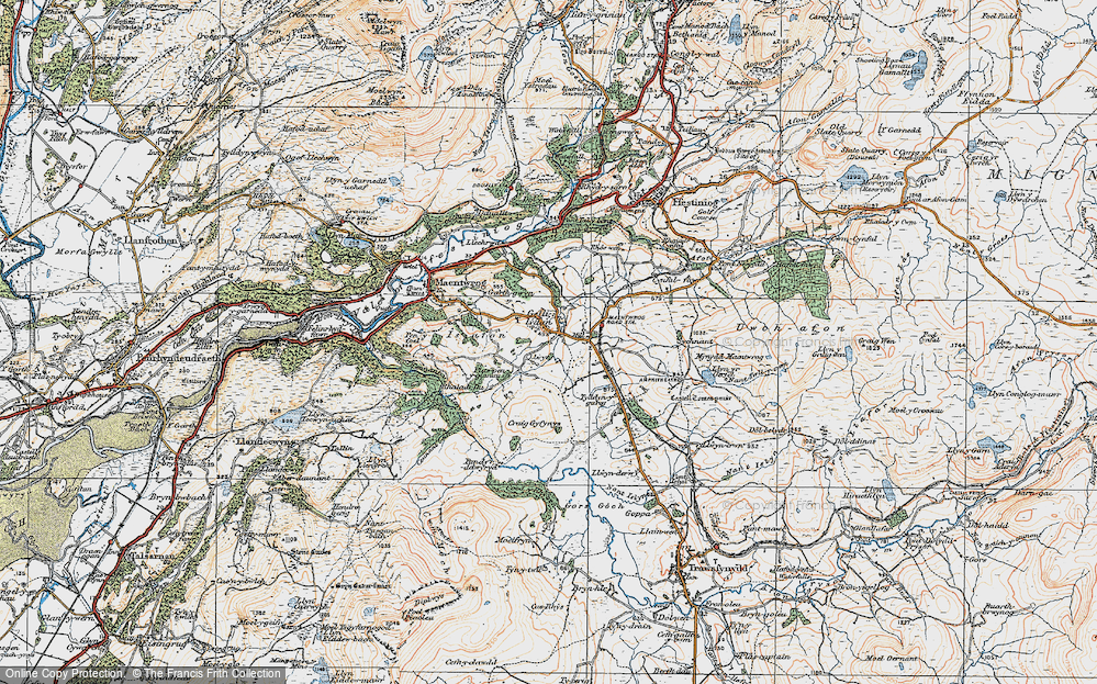 Old Map of Gellilydan, 1922 in 1922