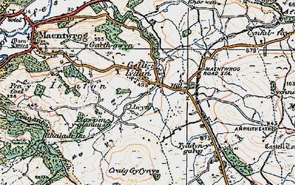 Old map of Gellilydan in 1922
