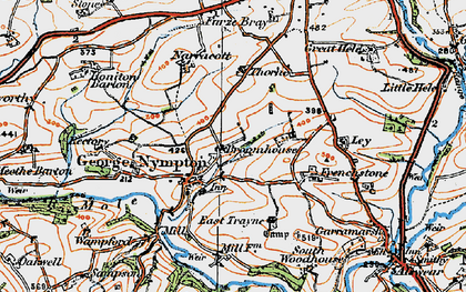 Old map of Yealmacott in 1919