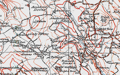 Old map of Georgia in 1919
