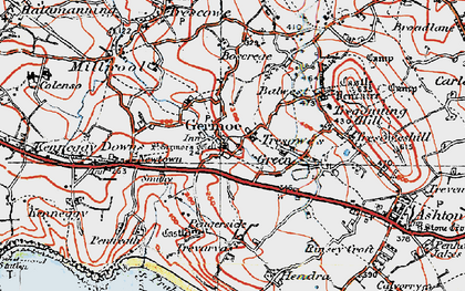 Old map of Germoe in 1919