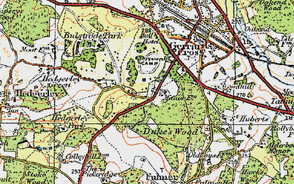 Old map of Gerrards Cross in 1920
