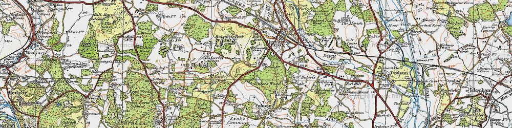 Old map of Gerrards Cross in 1920