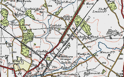 Old map of Westley Br in 1920