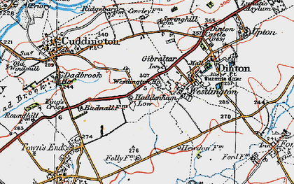 Old map of Westlington Ho in 1919