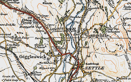 Old map of Giggleswick in 1924