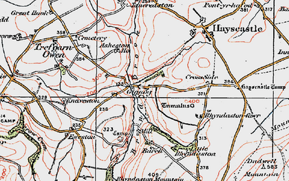 Old map of Asheston Ho in 1922