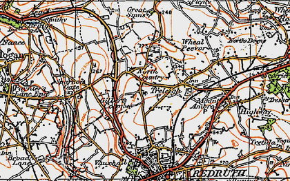 Old map of Gilbert's Coombe in 1919