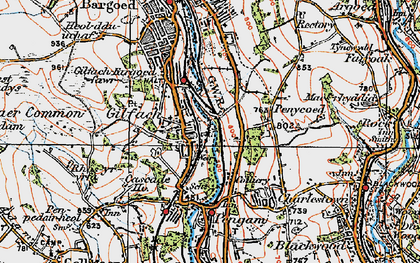 Old map of Gilfach in 1919