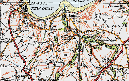 Old map of Gilfachreda in 1923