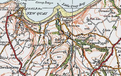 Old map of Gilfachrheda in 1923